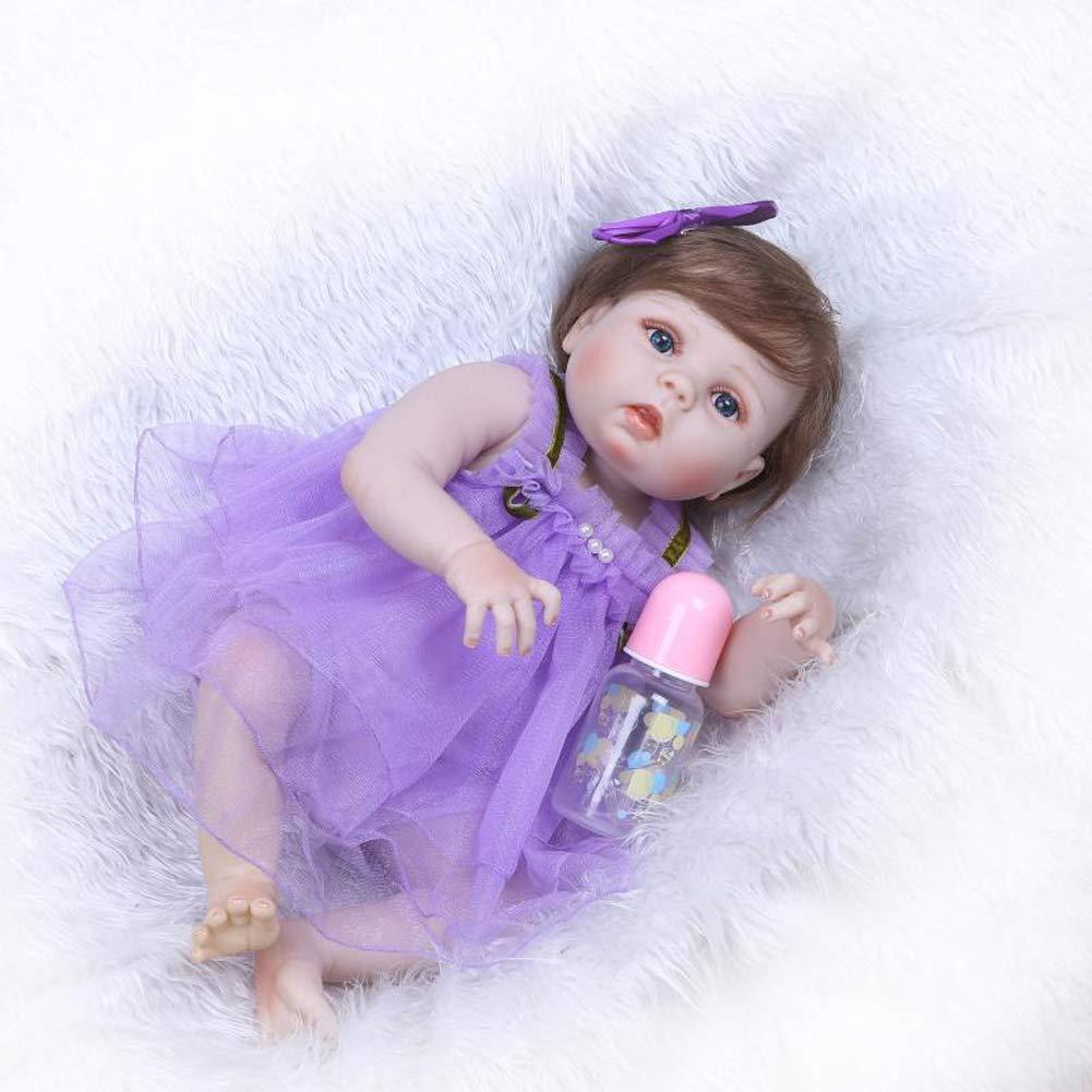 MGF 965 Reborn Baby Dolls, 23 Zoll Babies Dolls Girls Blau Eyes Soft Vinyl Silikon Kids Alter 3 +