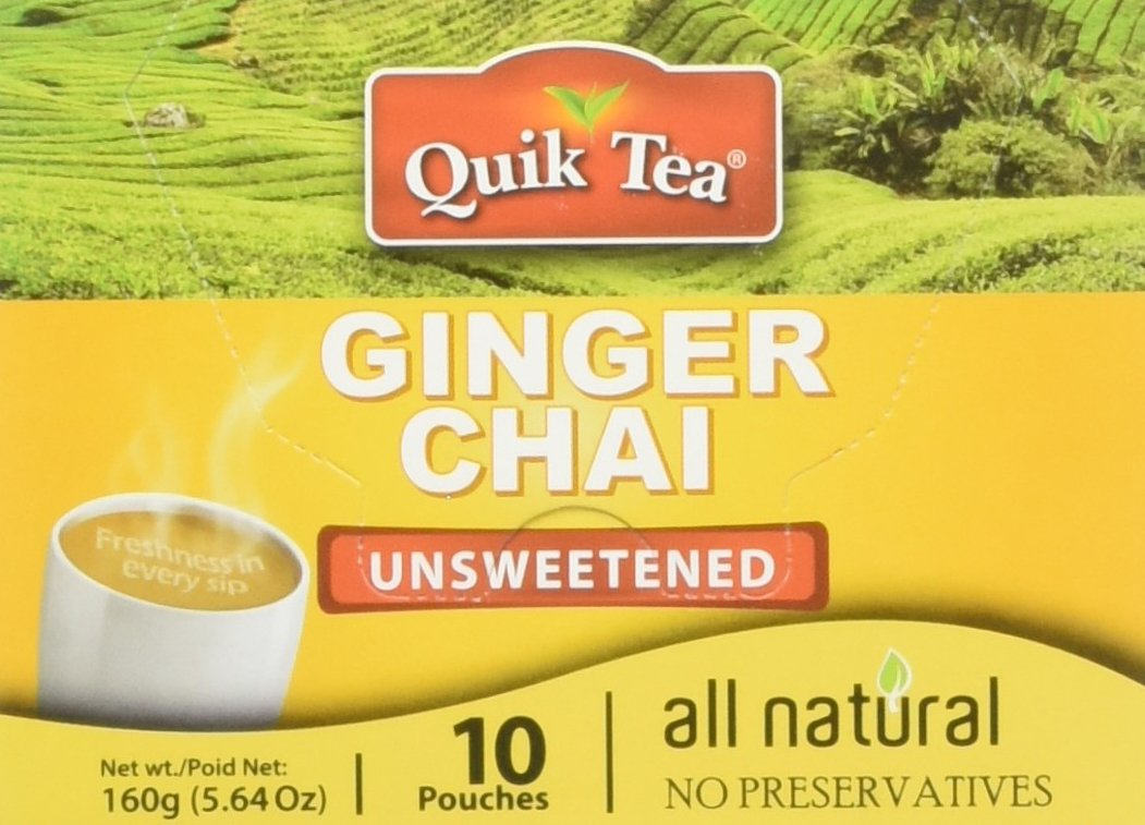 Chai Tea Latte - Ginger Chai Tea Latte Pouches (Unsweetened) (Pack of 10)