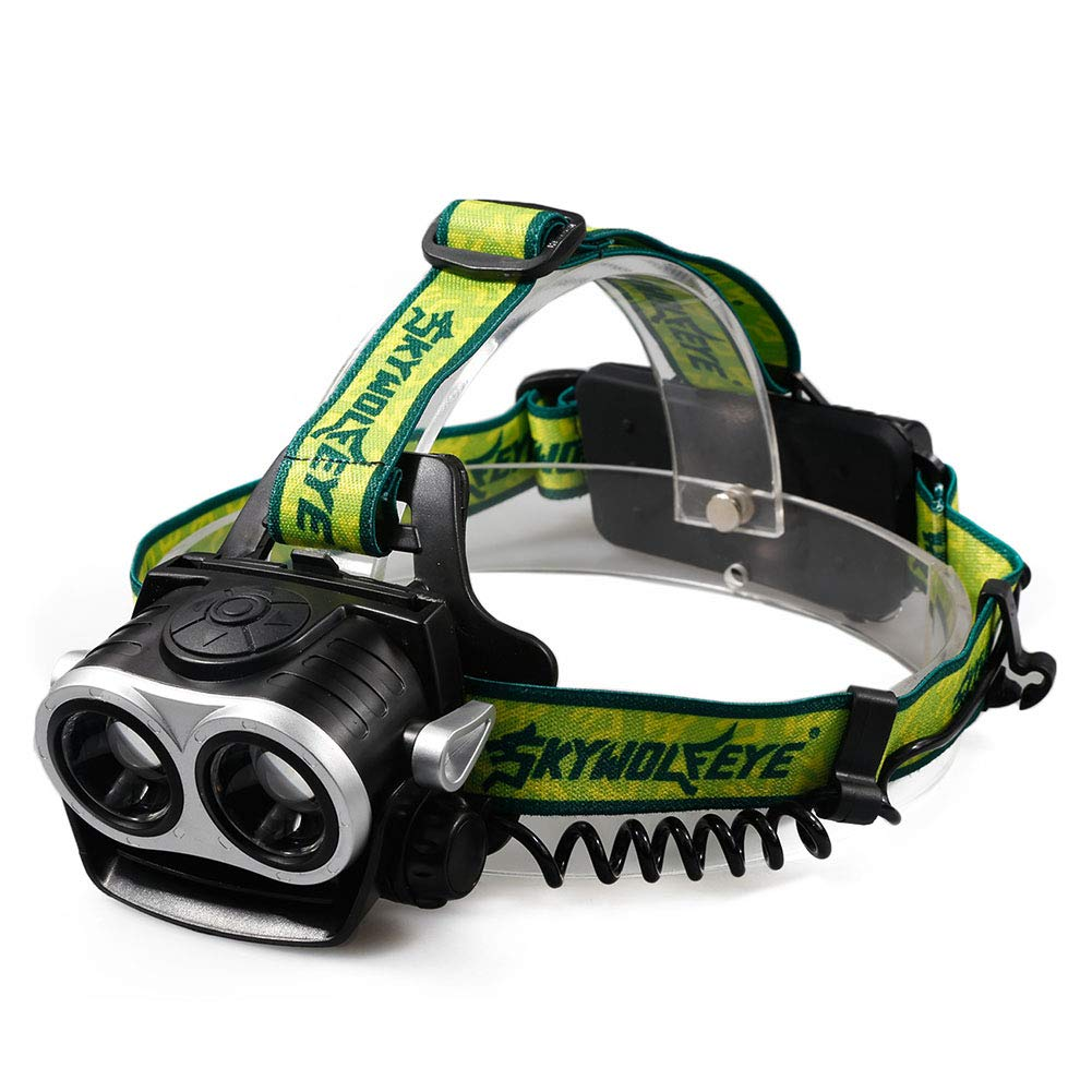 YAXuan Outdoor Headlamp, LED Headlight Super Bright Headlight USB Charging Headlight 2T6 Glare Telescopic Zoom Headlight Night Fishing Light for Camping Running Hiking and Reading Walking by YAXuan