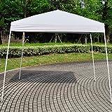 Z ZTDM Canopy Tent (Twelve Styles) Folding for Outdoor Pop Up Wedding Party BBQ, Sunshade/Waterproof/Heavy Duty (8.2' X 8.2' White)