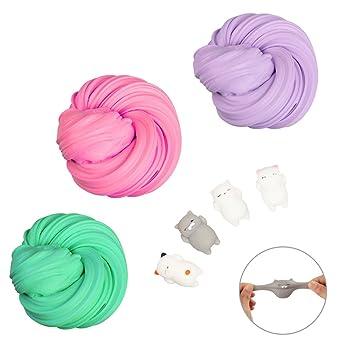DIY Fluffy Slime Schlamm Spielzeug, JIM\'S STORE 3 Farben DIY Floam ...