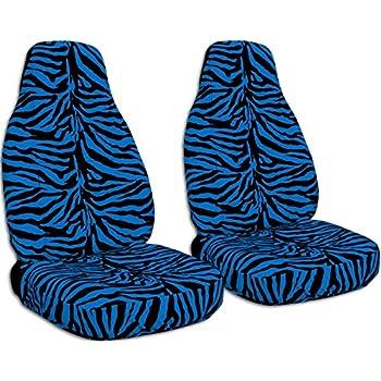 Animal Print Car Seat Covers Blue Zebra