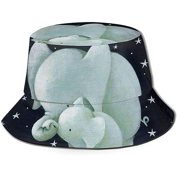 Sombrero De Cubo Familia De Elefantes Sol Gorra De...