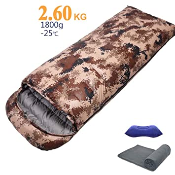 Mcoutdoor Saco De Dormir De Camuflaje De 1800 G para Camuflaje para Adultos - Sobre Ligero