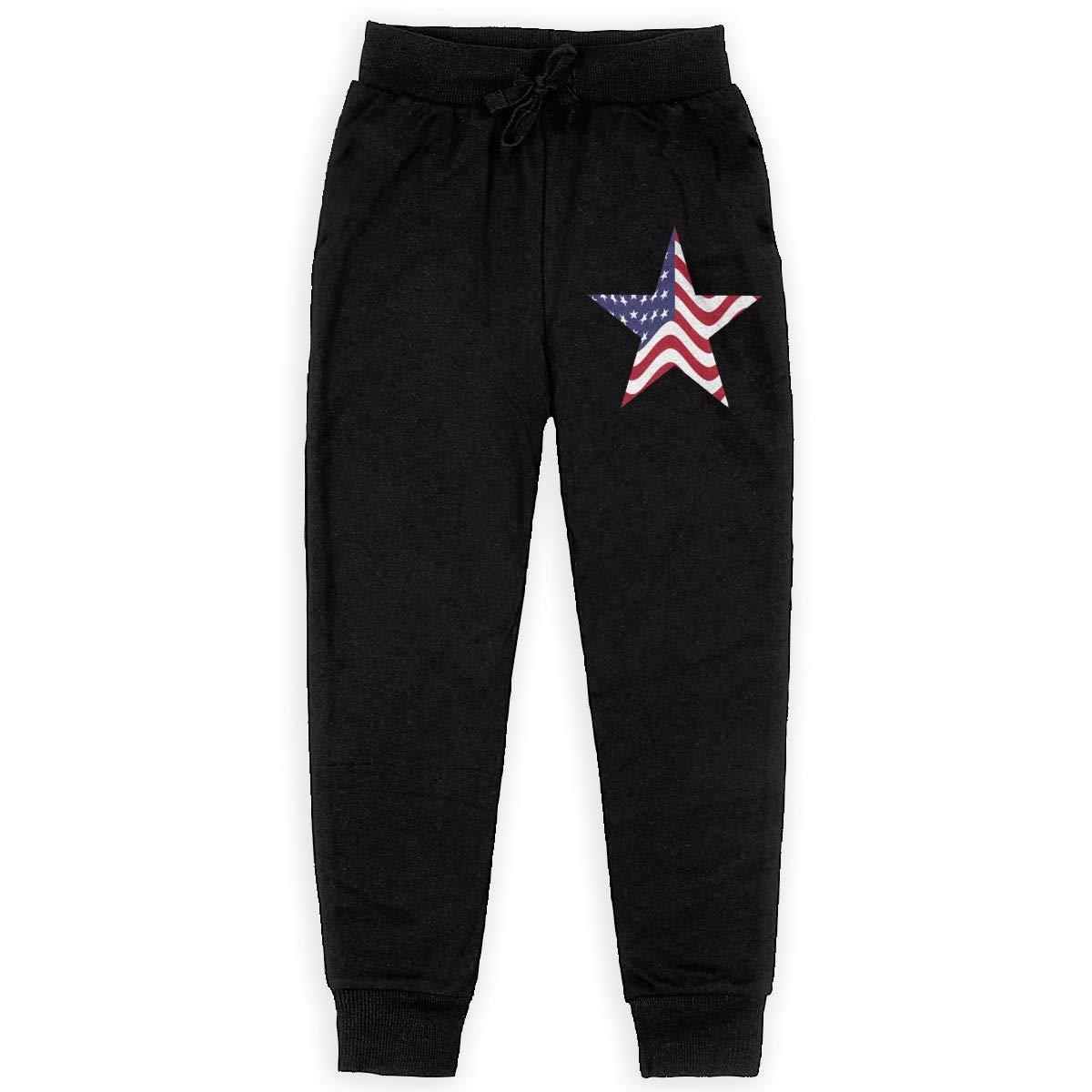 IufnNRJndfu America Star Boys Athletic Smart Fleece Pant Youth Soft and Cozy Sweatpants