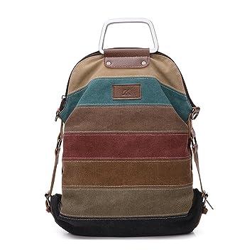 La Desire Multi-Function Convertible Canvas Shoulder Bag Crossbody Sling Bag Messenger Bag Backpack Handbag