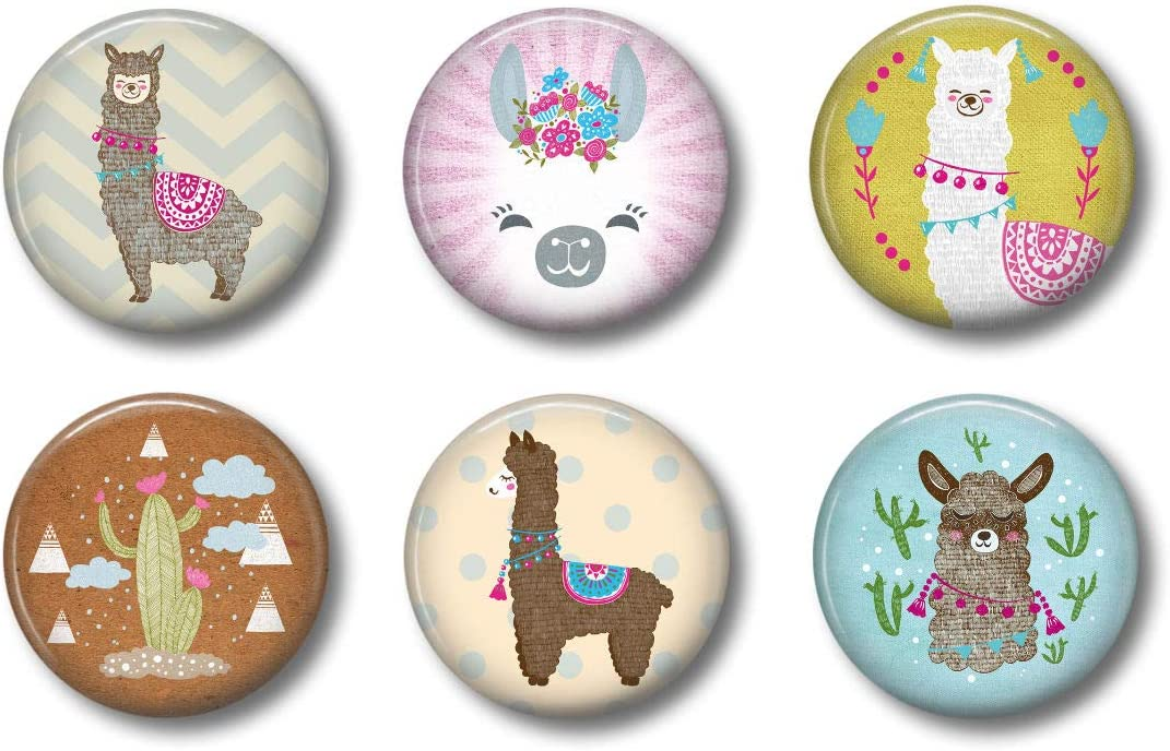 Cute Locker Magnets For Teens - Llama Magnets - Fun School Supplies - Whiteboard Office or Fridge - Funny Magnet Gift Set (2)