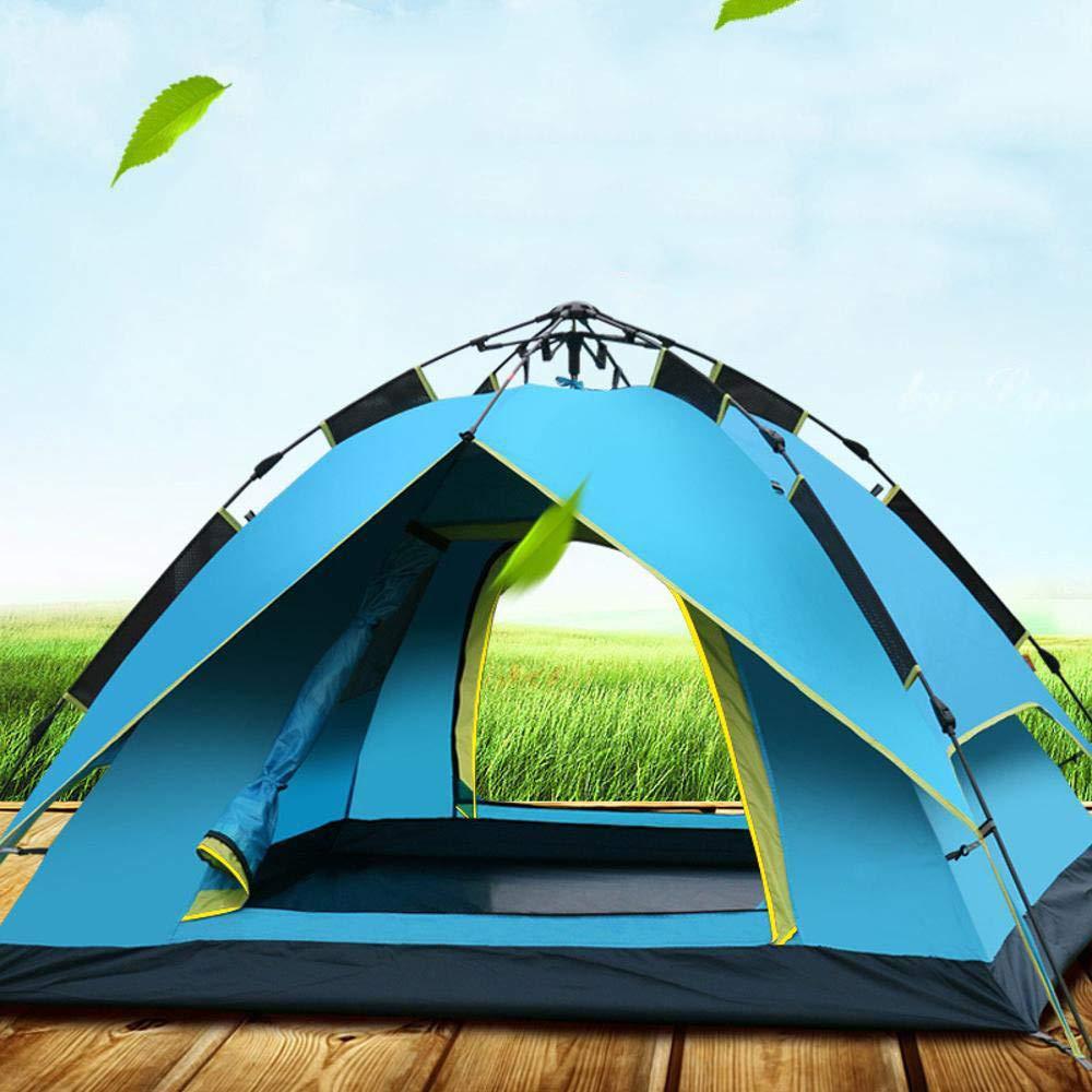 Lxj Legen Sie im Freien Outdoor Zelt 2 Personen double-Layer-3-4 Personen automatische hydraulische Zelt Camping Familie Freizeit Regenschutz 210  190  h130cm