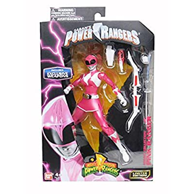 Mighty Morphin Power Rangers Legacy Collection Limited Edition 6.5 Inch Pink Ranger with Metallic Finish and Exclusive Weapons: Toys & Games