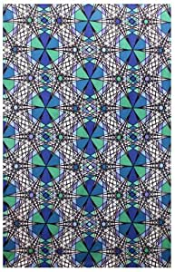 Sunshine Joy Geo Web Psychedelic Geometric Design Tapestry - 60x90 Inches - Beach Sheet - Hanging Wall Art