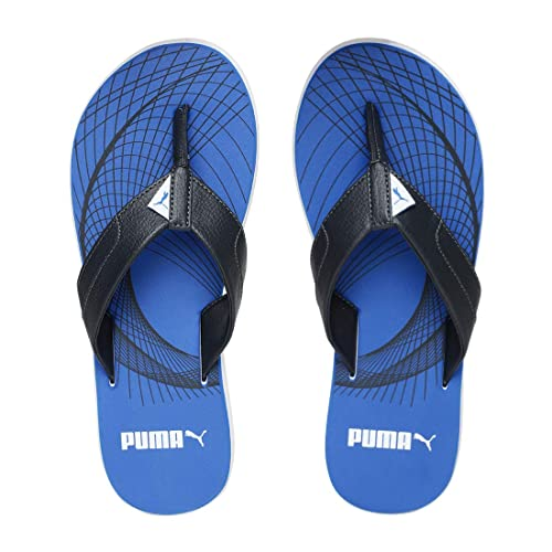 873481dd4 PUMA Men's Oleum IDP Royal Blue-Asphalt White Flip Flops Thong Sandals-10 UK