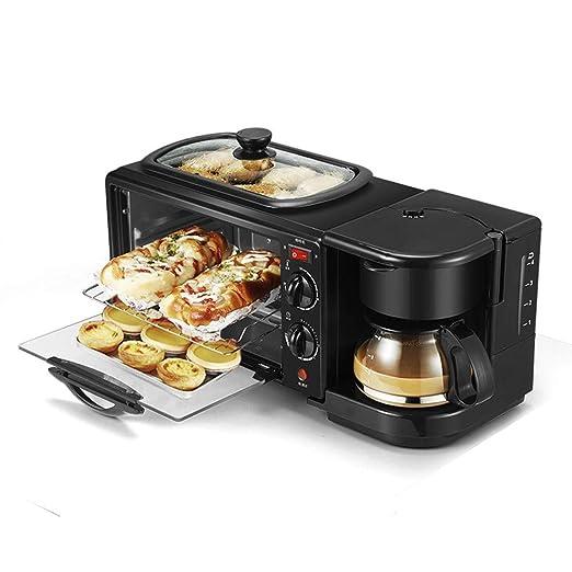 lijunjp Máquina de Desayuno multifunción 3 en 1, cafetera ...