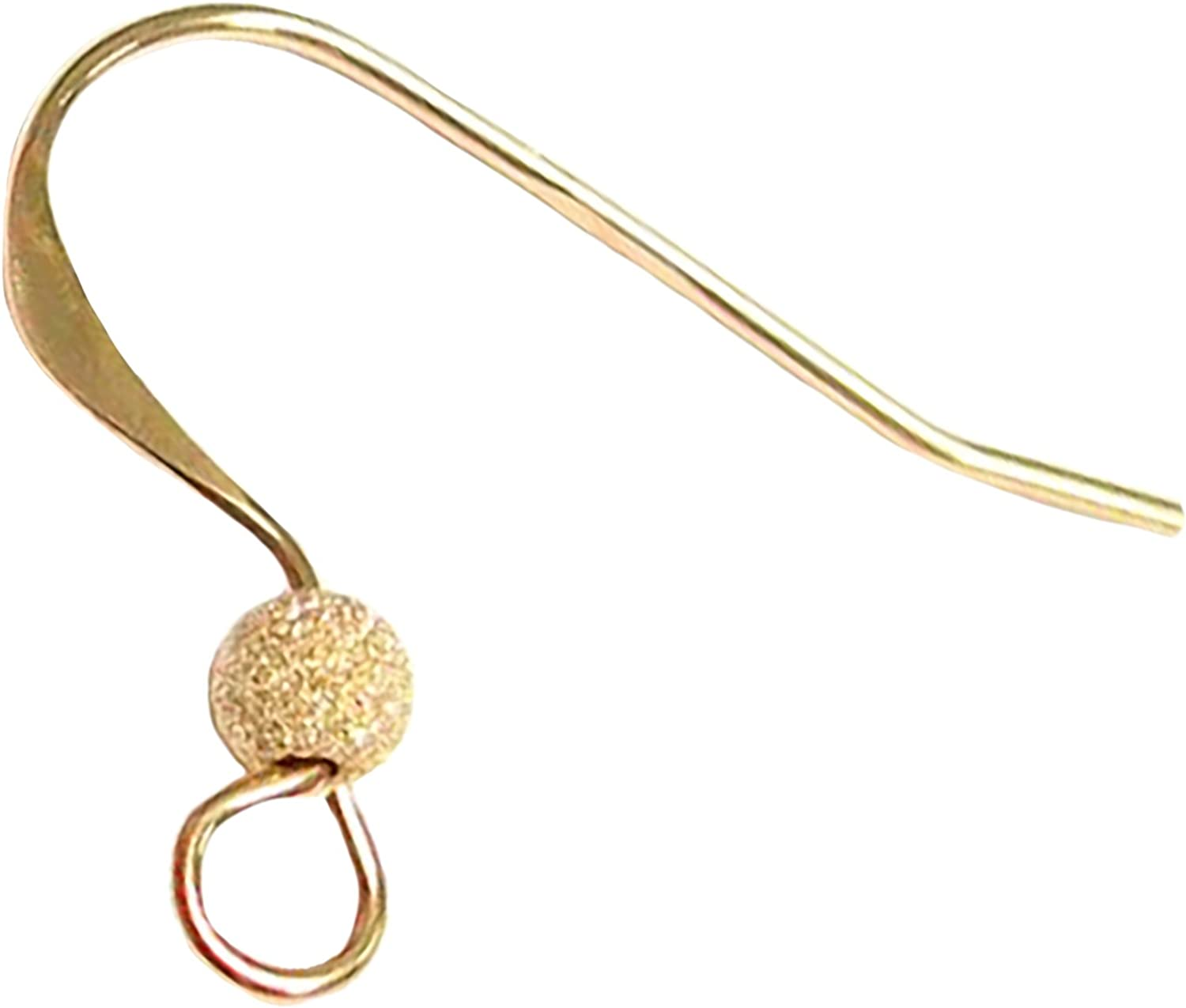 Yellow Gold Pair 18ct  Gold Plain Safety Ear Hook Wires for Earrings