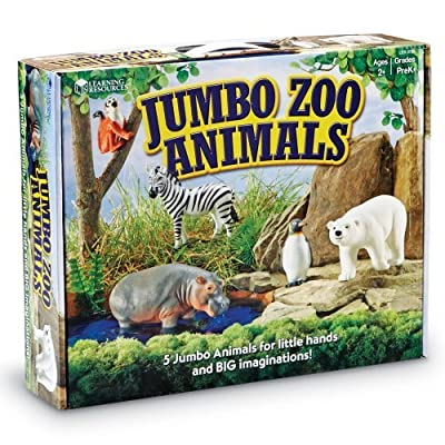 Learning Resources Jumbo Zoo Animals by Learning Resources