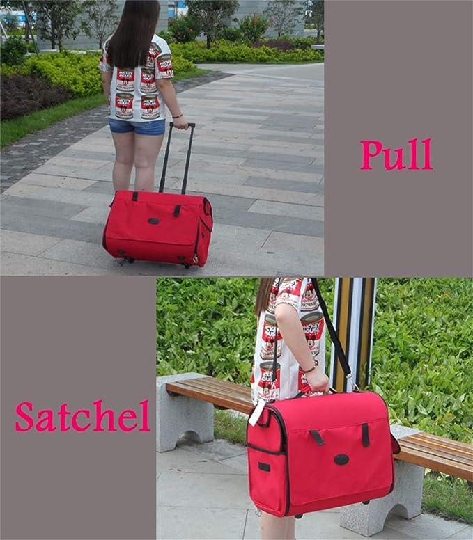 Bolsa de mascotas Carrito para mascotas Carrier Case Plegable Pet Carrier Mochila Luxury Travel Pet Bag Carritos (Mascotas hasta 16 Libras) Rojo Plegable ...