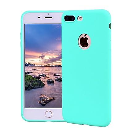 Funda iPhone 7 Plus, Carcasa iPhone 7 Plus Silicona Gel, OUJD Mate Case Ultra Delgado TPU Goma Flexible Cover para iPhone 7 Plus - Azul cielo