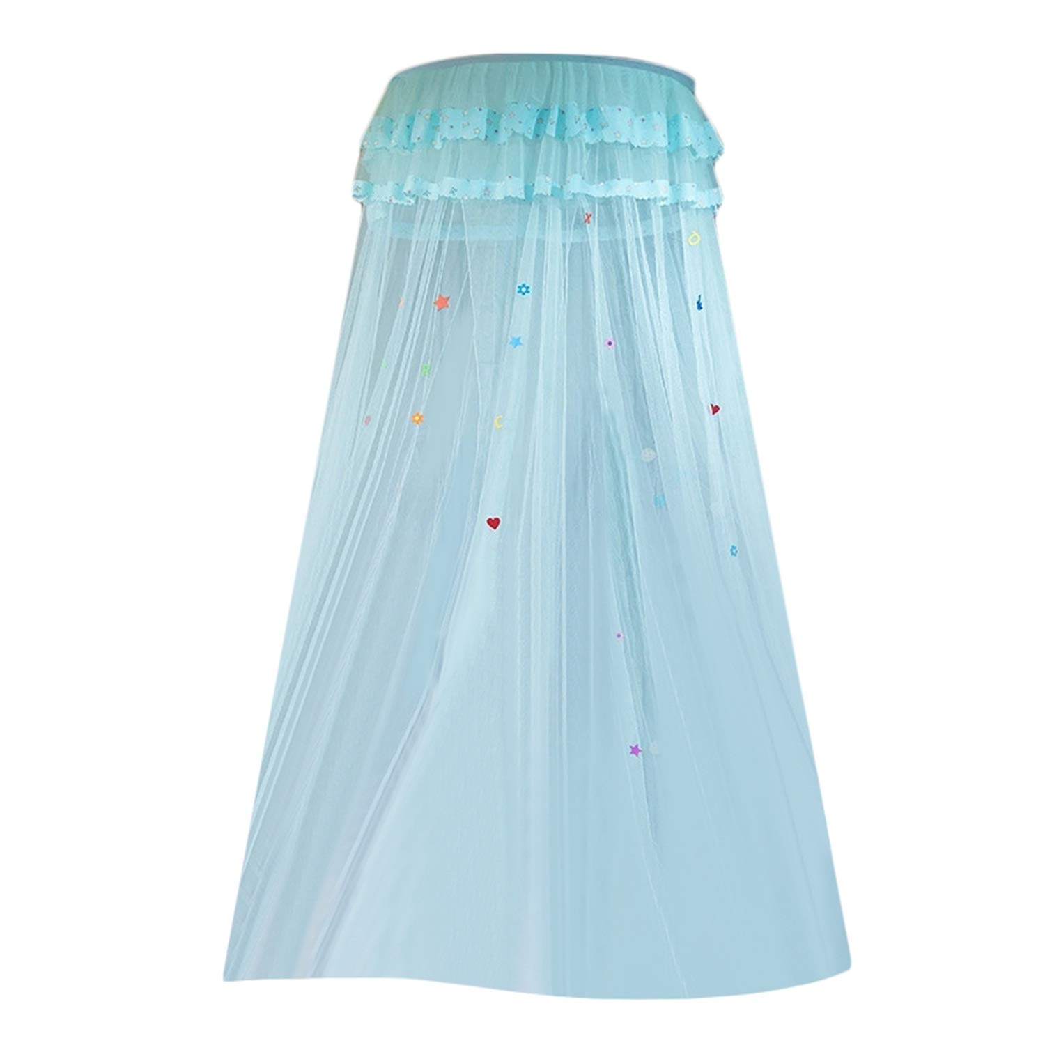Mosquito Net - Children Elegant Tulle Bed Dome Netting Canopy Circular Round Bedding Mosquito Net - Patio Curtain Attach Screen Hammocks Over Universal Pink Military Long Lights Stroller Gar