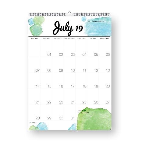 Amazon.com: Palo con calendario Sam 2019, planificador ...