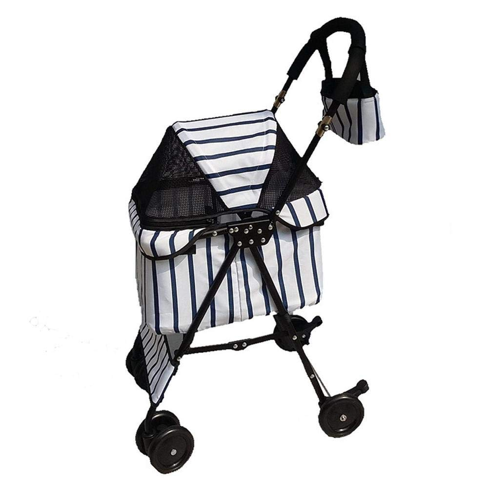 B Aoligei Pet Stroller Dog Pushchair Four-wheel portable small and medium sized pet folding car