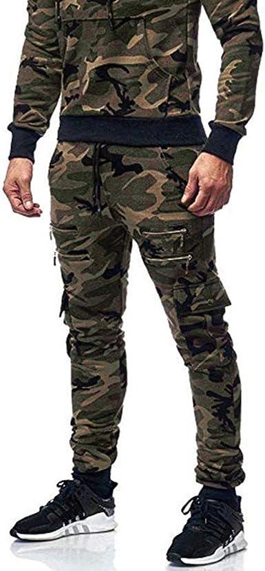 Heetey - Pantalones de chándal para Hombre, de algodón, con Cierre ...