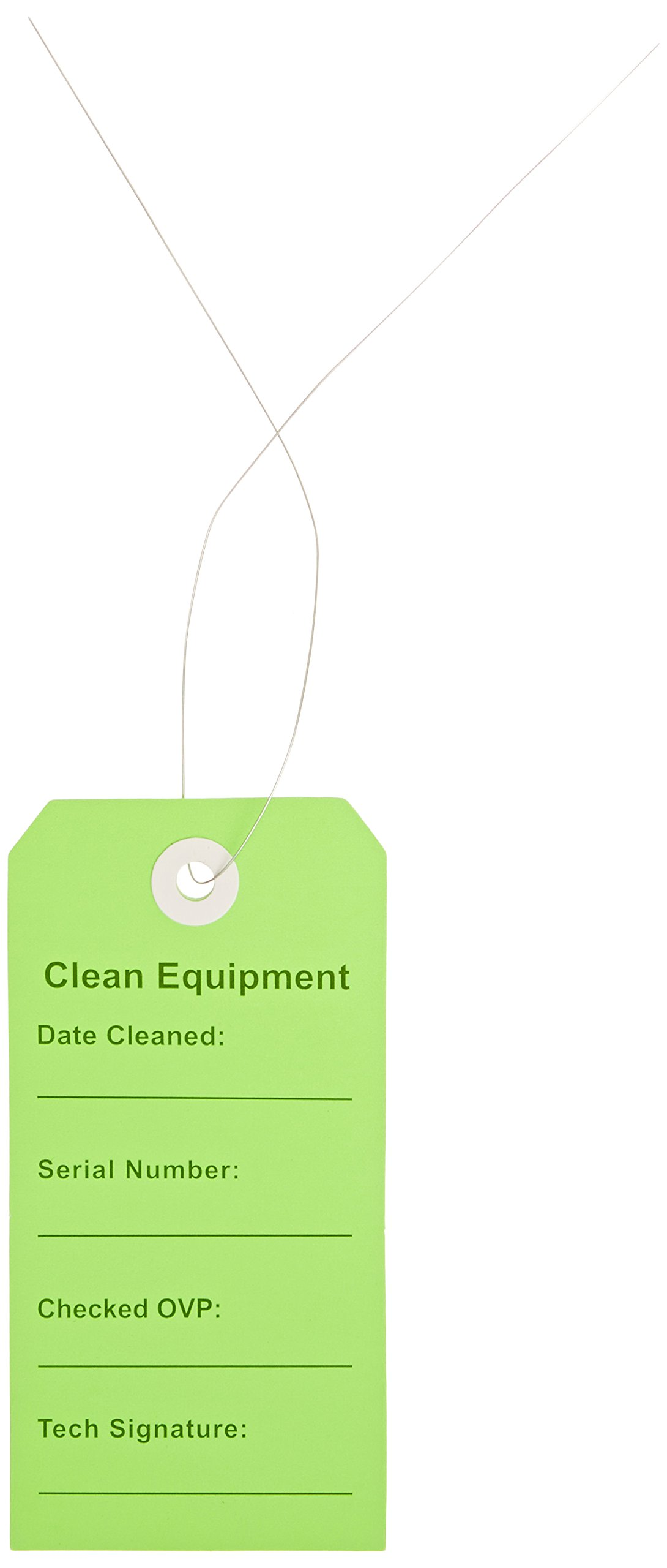 Elkay Plastics TCEG Clean Equipment Tag, 2 5/16'' x 4 .75'', Green (Case of 500) by Elkay Plastics