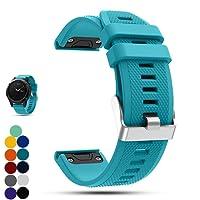 Garmin Fenix 5 GPS-Multisport-Smartwatch Uhr Ersatzband, iFeeker Weiche Silikon Schnellinstallation Armbanduhr Gurt Riemen für Garmin Fenix 5 GPS-Multisport-Smartwatch