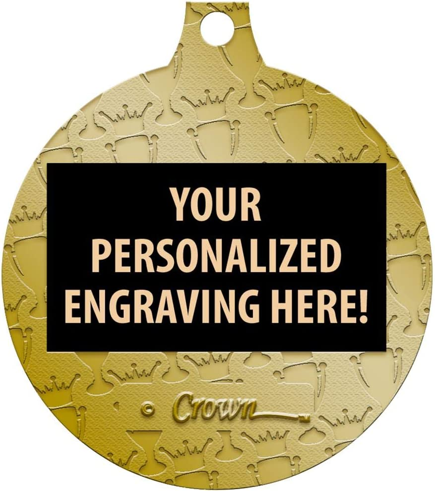 Great Kids Baseball Awards with Custom Engraving Prime Baseball Medals 1 1//2 Gold Baseball Medals
