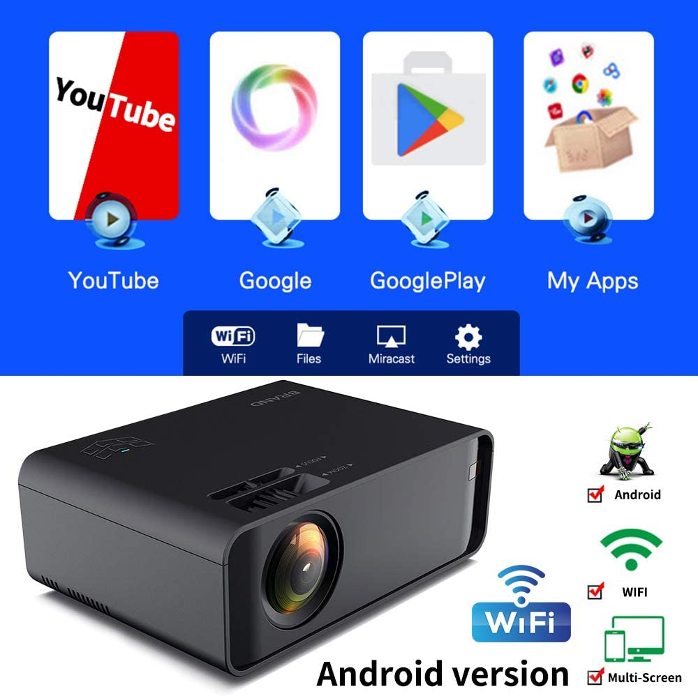 Proyector Androide, Los Mini WiFi Proyector Full HD 3D 4K 2300 ...