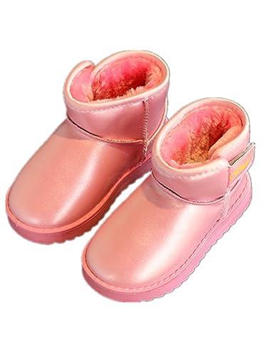 Stillshine Children s snow boots Winter thickening warm snow boots toddler  boys girls fur boots non-slip baby boots plush children s shoes cotton shoes 770e0c0e0c26