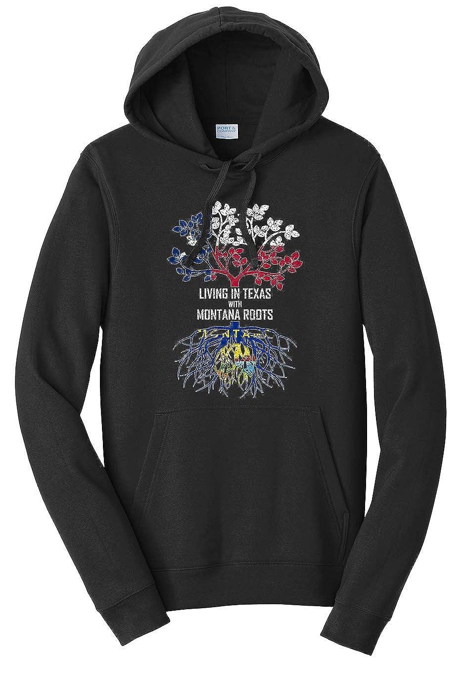 Tenacitee Unisex Living in Texas Montana Roots Sweatshirt