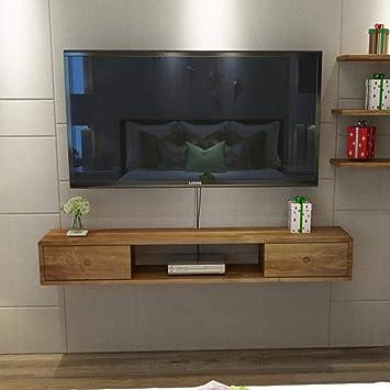 Gabinete de TV en la Pared Puertas correderas Izquierda y Derecha Mueble de Pared Colgante Estante de la Pared Estante Flotante pequeño Estante de Almacenamiento de artículos electrónicos Soporte TV: Amazon.es: Electrónica