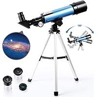 PEALOV Teleskop astronomiczny z lekkim statywem   2 opcje okulary teleskopowe astromatowe okulary, refrakcyjny teleskop…