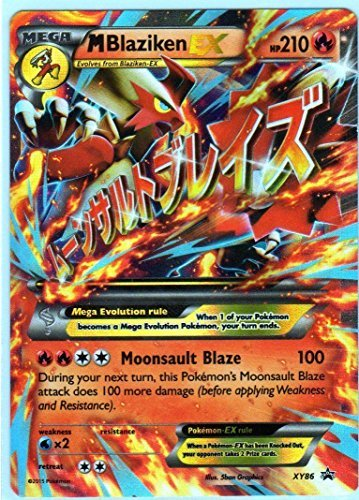 Mega/M Blaziken EX Pokemon Card (Promo #XY-86) Ultra-Rare, Holo-Foil