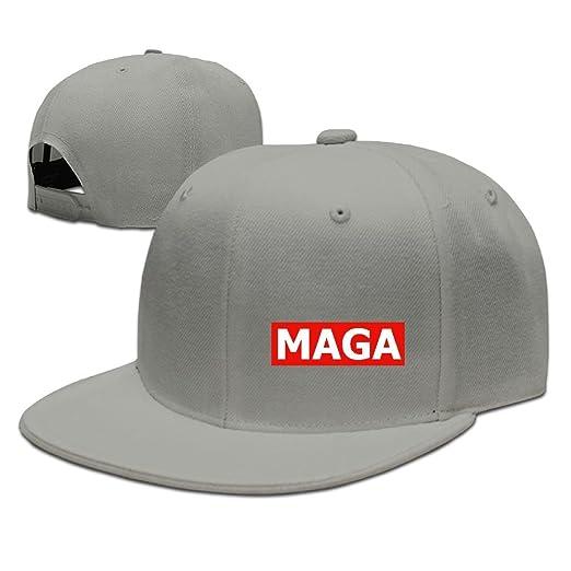 GGRXL QQYYIA MAGA Baseball Cap Flat Bill Hat Snapback Hats at Amazon ... e3364b889b2