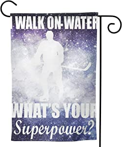 """2 Pcs Garden Flag I Walk On Ice What's Your Superpower 28"""""""" X40-Mothers Day, Birthday Gifts for Mom, Dad, Wife, Husband, Daughters, Grandma, Friends"""