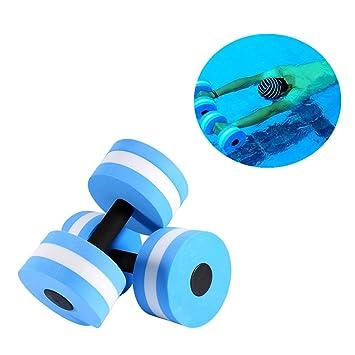 Aqua - Barra para mancuernas de mancuerna de fitness, 2 pcs resistencia EVA espuma mancuernas piscina flotador Aqua ejercicios equipo para aquaeróbic: ...