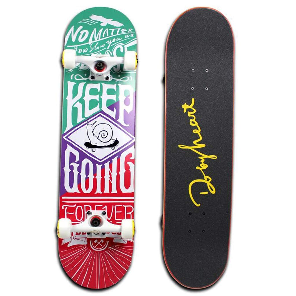 QYSZYG Doppelt gekrümmtes Longboard Skateboard Mädchen Jungen Anfänger tanzen Tanz Skateboard Allround Board 80  20cm Skateboard (Farbe   B) B07PP5P459 Skateboards Neuer Stil