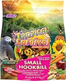 "F.M. Brown's Tropical Carnival Gourmet Bird Food for Parrots, African Greys, and Conures Under 13"", Probiotics for Digestive Health, Vitamin-Nutrient Fortified Daily Diet, 5lb"
