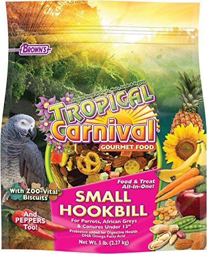 Cheapest Tropical Carnival F.M. Brown's flavorful Bird Food for Parrots, African Greys, and Conures Under 13