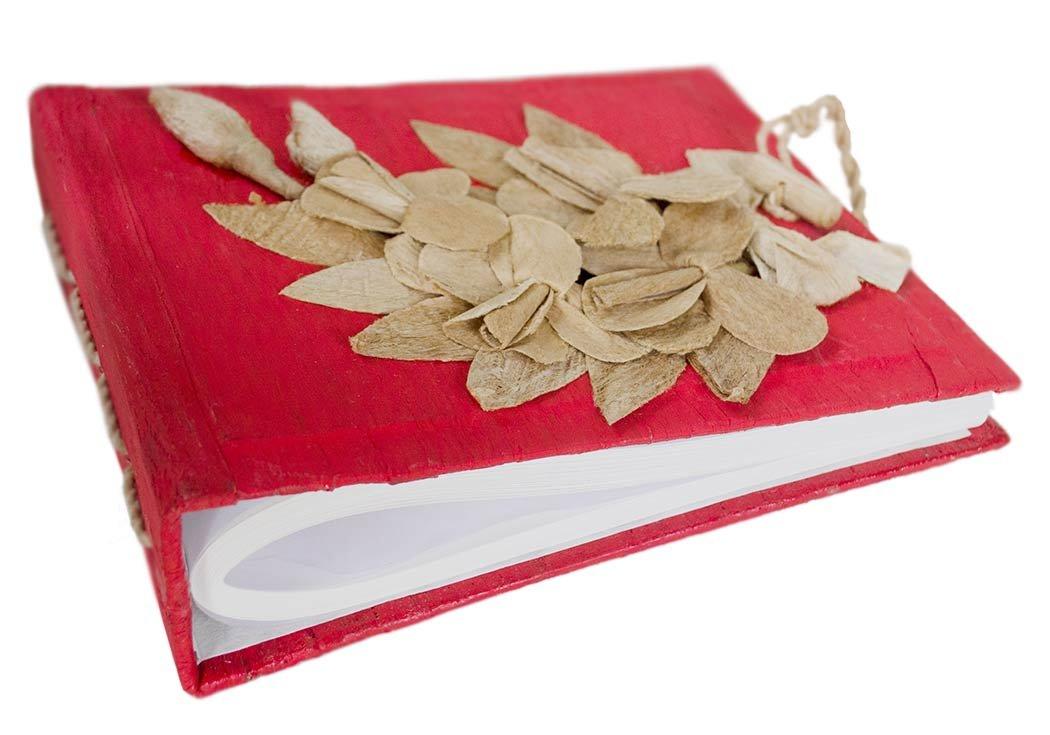 Handgemachtes Fotoalbum Blumen Weiße, Klassische Seiten mit Geschenktüte (33cm x 40cm) Life Arts