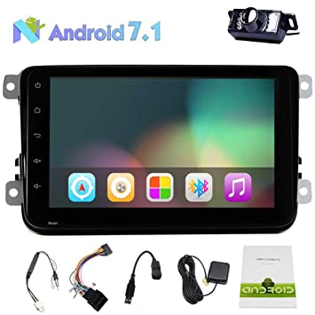 Car Stereo Android 7.1 8Touch Pantalla GPS Bluetooth Doble DIN ...