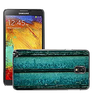 Etui Housse Coque de Protection Cover Rigide pour // M00150372 Wood Green Turquoise agua Ciegos // Samsung Galaxy Note 3 III N9000 N9002 N9005