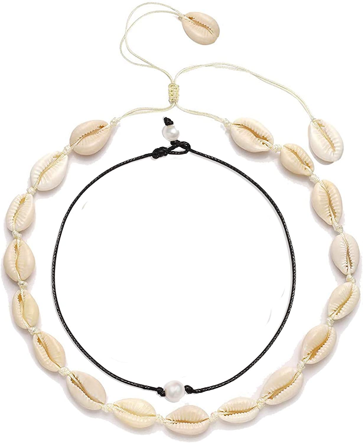 Natural Gold Adjustable Beach Sea Necklaces Beach Shell Necklace Choker Shells