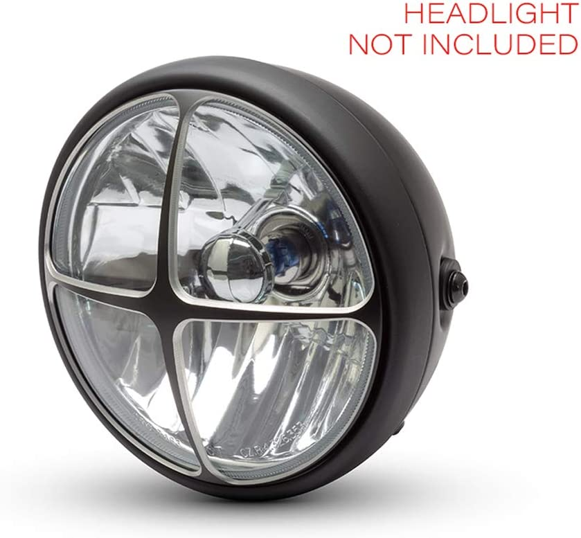 Motorbike Headlight Cover 7 INCH Guard Scrambler Project Retro Cross Design