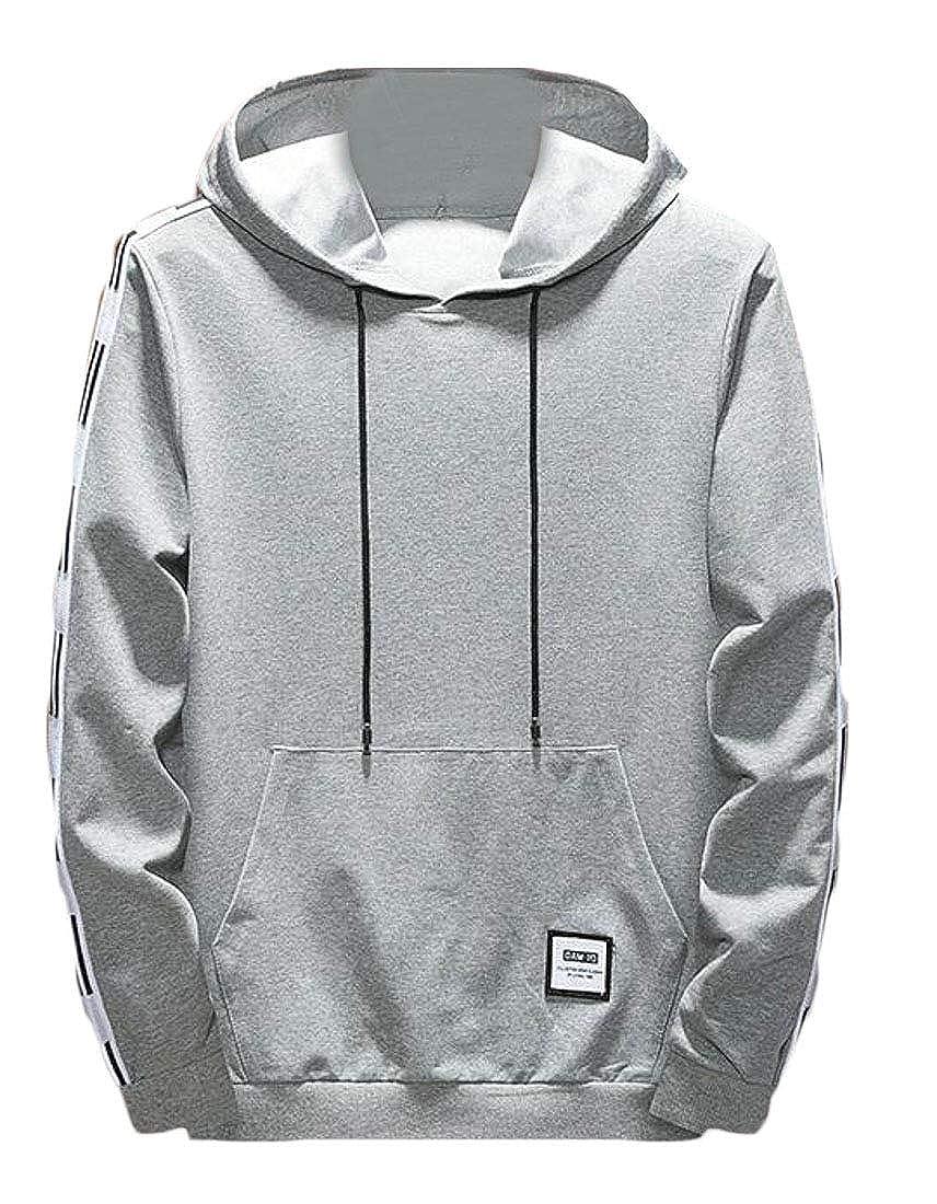 Cromoncent Mens Vogue Track Pullover Hooded Pocket Strings Sweatshirts