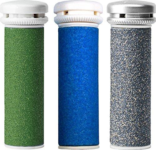 Emjoi Micro-Pedi Refill Rollers - (Extra, Super & Xtreme Coarse) - Pack of 3