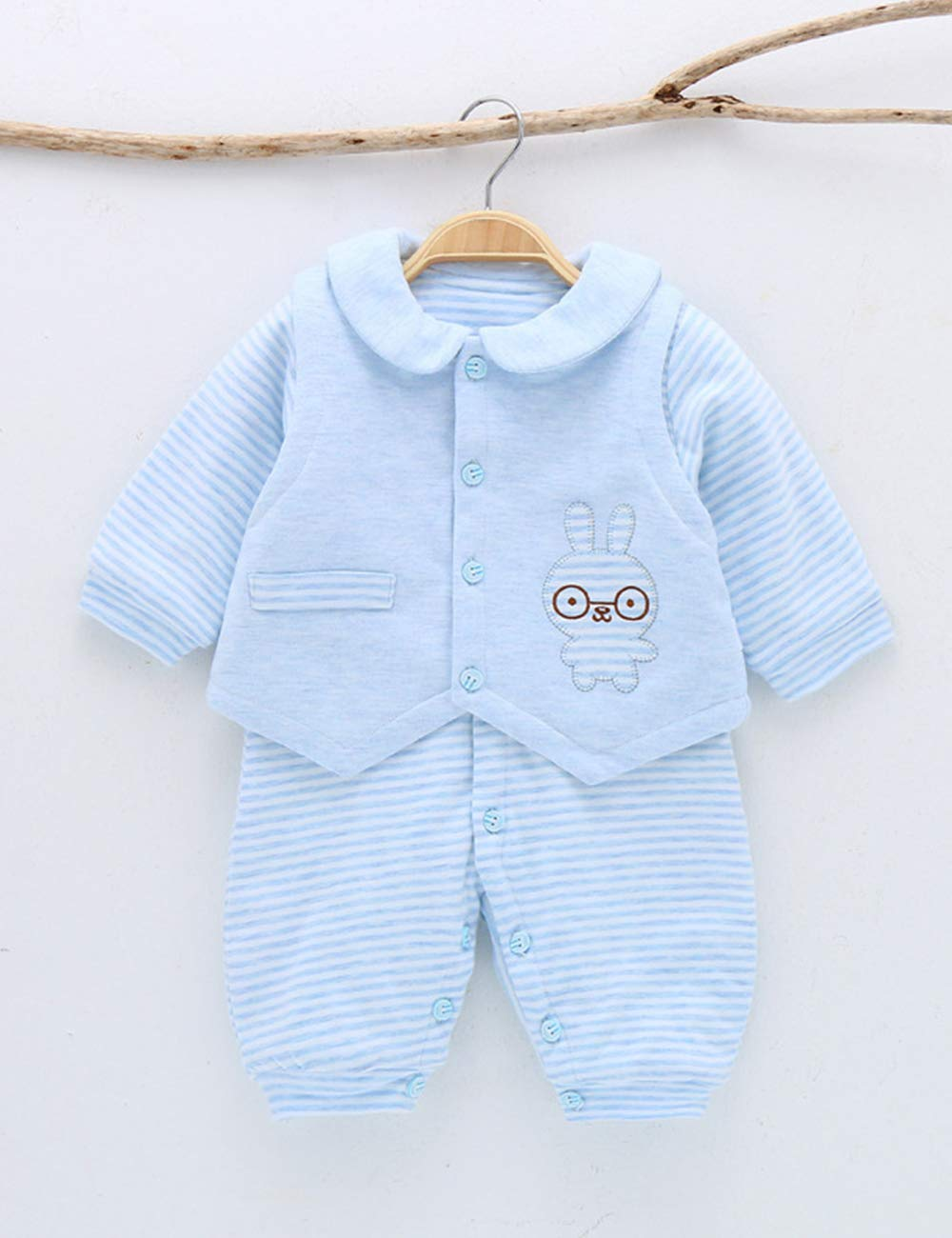 acadfdf8cd58 Zhhyltt Baby Crawler Suits Cotton Long Sleeve Outfits Button ...