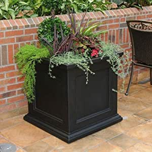 Mayne Fairfield 28in Square Planter - Black