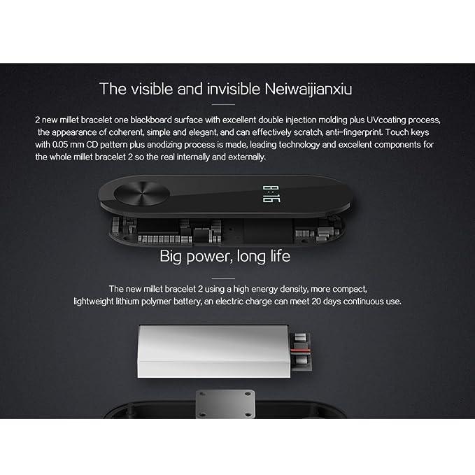 Amazon.com: Original Xiaomi Mi Band 2 Smart Wristband Bracelet OLED ...