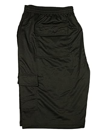 dcb5457f42 Kam New Mens Big King Size Cargo Shorts Elasticated Waist in Charcoal Black  Navy Colours: Amazon.co.uk: Clothing